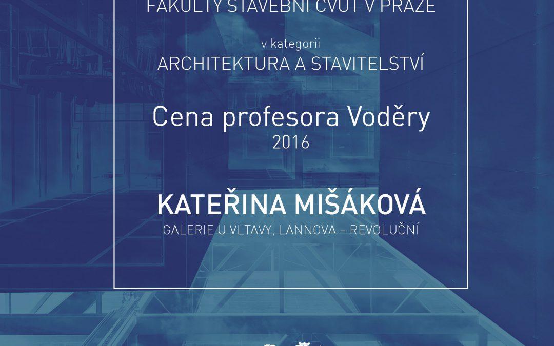 Cena profesora Voděry 2016