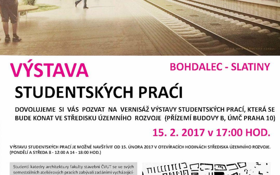 Výstava studentských prací Bohdalec – Slatiny