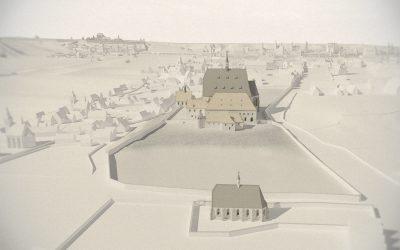 Rekonstrukce podoby Karlova náměstí a okolí z doby před husitskými válkami v digitální podobě a ve zpracování pro fyzické modely