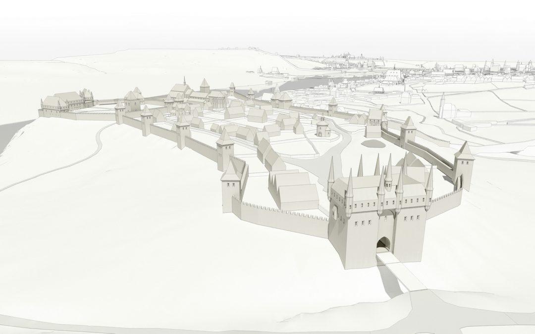 Rekonstrukce podoby pražských hradů, Pražského hradu a Vyšehradu, z doby před husitskými válkami v digitální podobě a ve zpracování pro fyzické modely