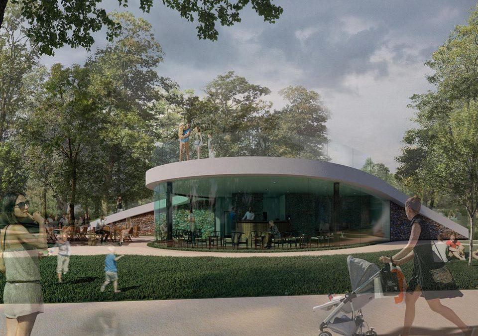 Studentská soutěž na návrh kavárny v Parku Josefa Hory v Roudnici nad Labem