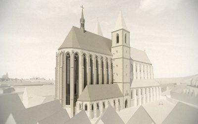 Rekonstrukce podoby pražského chrámu Panny Marie Sněžné a okolí ve zpracování pro digitální a fyzické modely